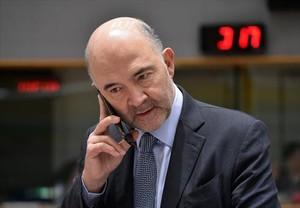 Pierre Moscovici, comisario de Asuntos Económicos, ayer en Bruselas.