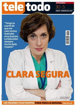 Portada del 'Teletodo' con Clara Segura, actriz de 'Nit i dia' (TV-3).