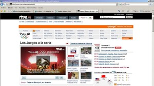 Una imagen del portal de RTVE.