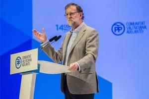 El presidente del Gobierno, Mariano Rajoy, en el congreso del PP de Valencia.