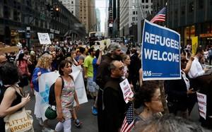 Protestas contra Trump por la separación de las familias de inmigrantes en Nueva York.