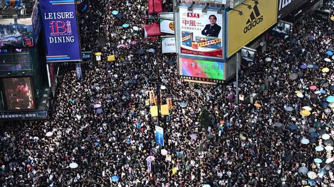 Protestas en Hong Kong por la ley de extradición.