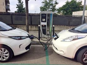 Punto de recarga para coches eléctricos en Mataró.