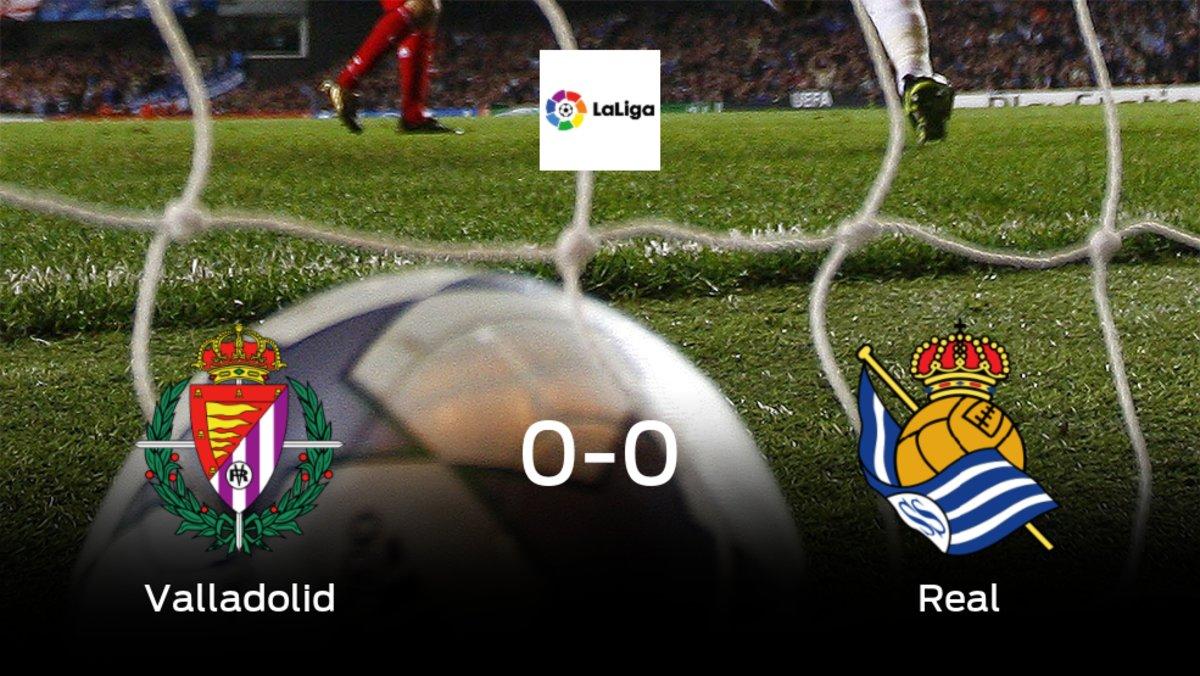 El Real Valladolid y la Real Sociedad consiguen un punto tras empatar a cero