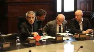 Reunión de la Mesacon los abogadosdel Parlament