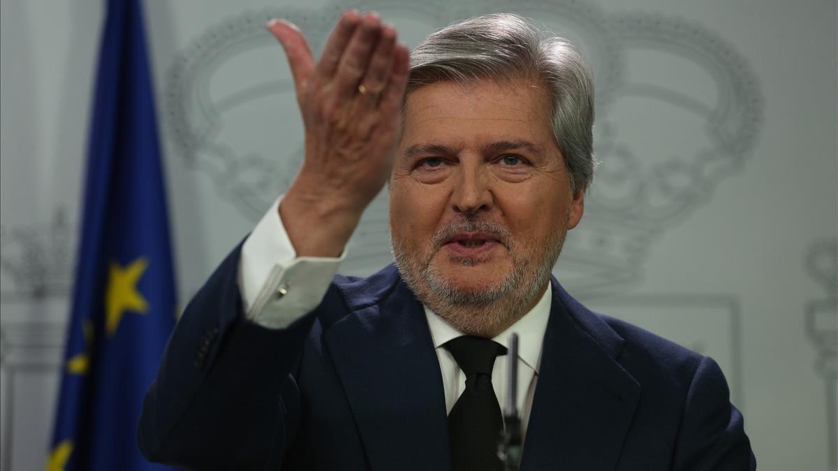 El portavoz del Gobierno central, Íñigo Méndez de Vigo.