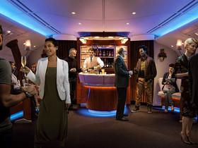 La sala VIP del A380 de Emirates.