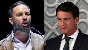 Santiago Abascal y Manuel Valls.
