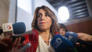 La secretaria general del PSOE-Andalucía Susana Diaz, este martes.