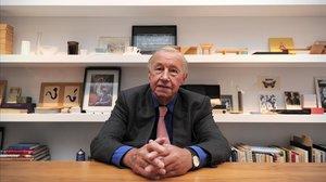 Sir Terence Conran, en el 2011, cuando inauguró su exposición retrospectiva en Londres.