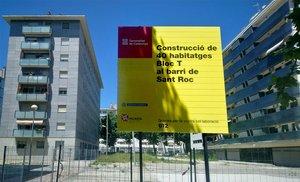 El solar donde el Incasòl construirá un edificio de pisos sociales en el barrio de Sant Roc de Badalona.