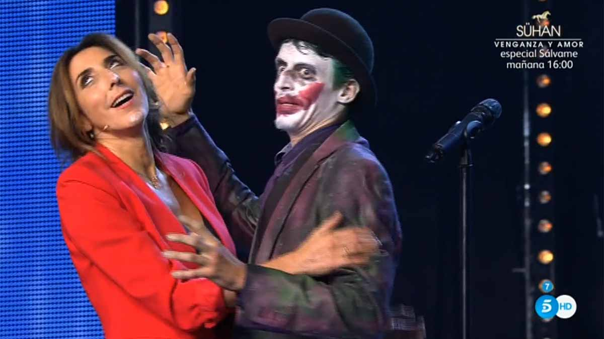 Paz Padilla, con el Joker (Got talent, T-5).
