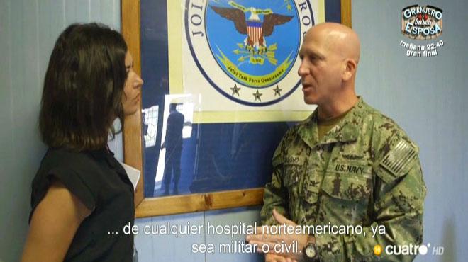 Alejandra Andrade, con un alto mando de Guantánamo (Cuatro).