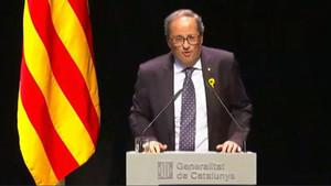 """Ciutadans, el PSC i el PPC retreuen a Torra que """"exclogués"""" més de la meitat de catalans"""