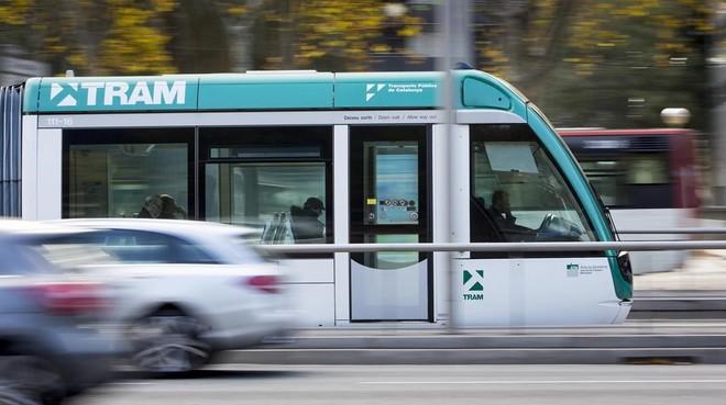 Un tranvía de Barcelona.