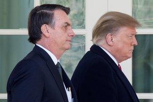 Donald Trump y Jair Bolsonaro en la Casa Blanca. EFE