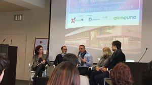Una de las sesiones celebradas en la primera edición del foro Eibar Business Market.