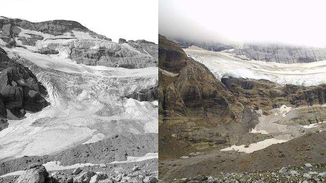 Uno de los últimos glaciares de España está desapareciendo