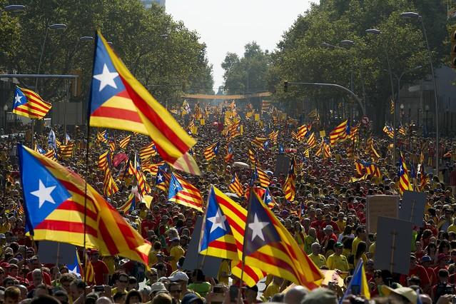 Imagen de la Via Catalana 2014 en Barcelona.