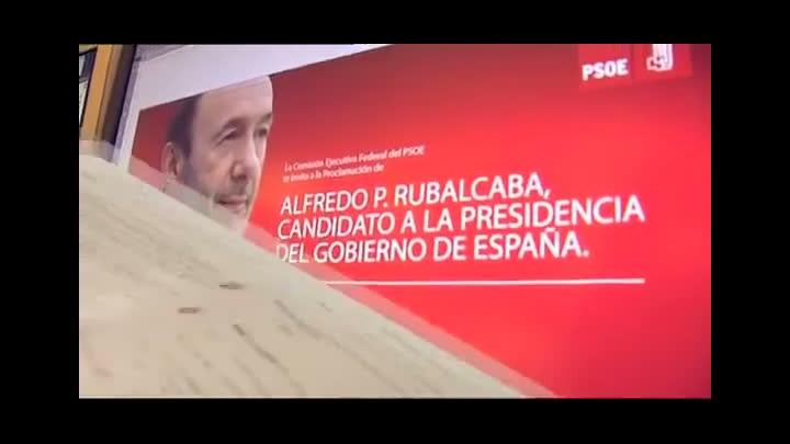 Vídeo del 'making off' sobre la candidatura de Rubalcaba.