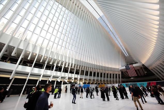 Elnuevo núcleo de transporte en la zona cero de Nueva York, obra del arquitectoSantiago Calatrava.