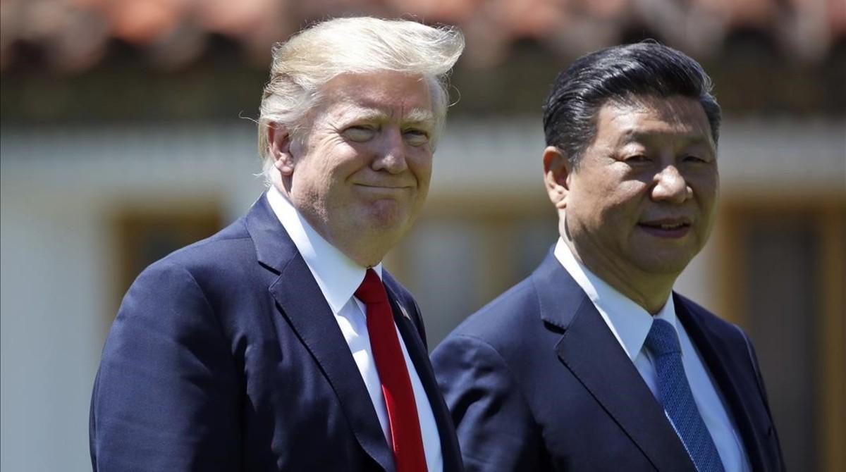 Los presidentes de Estados Unidos y China, Donald Trump y Xi Jinping, en la cumbre del pasado mes de abril en Florida.