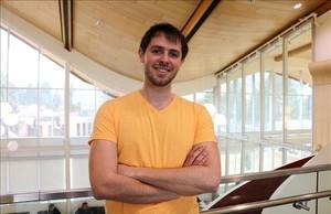Albert Adserias, estudiante de QuÍmica de la UAB que está cursando la carrera en la Thompson Rivers University, en Canadá.