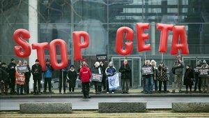 Protestas de los anti-CETA en Berlín.