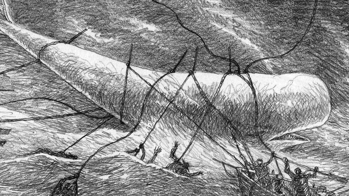 Fragmento de viñetadel cómic 'Moby Dick', de José Ramón Sánchez.