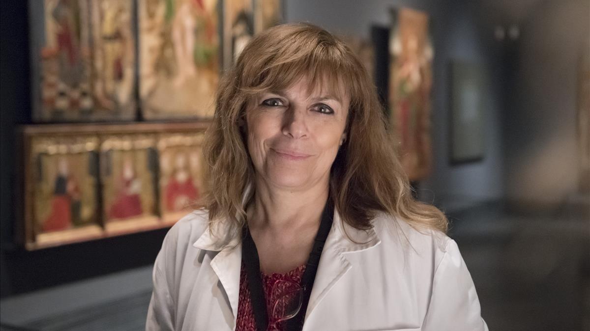 Carmen Berlabé, conservadora del Museu de Lleida y autora del libro Del Museu Diocesà al Museu de Lleida.