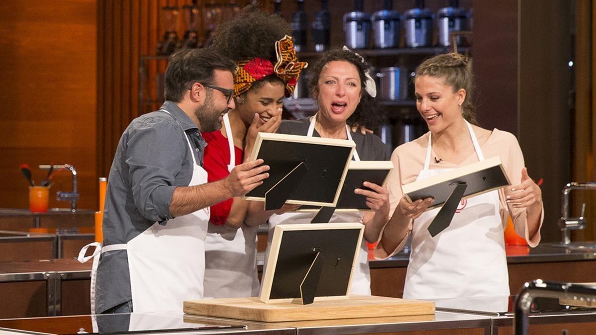 Toni, Ketty, Oxana y Marta, los finalistas del concurso de TVE-1 'Masterchef 6'.