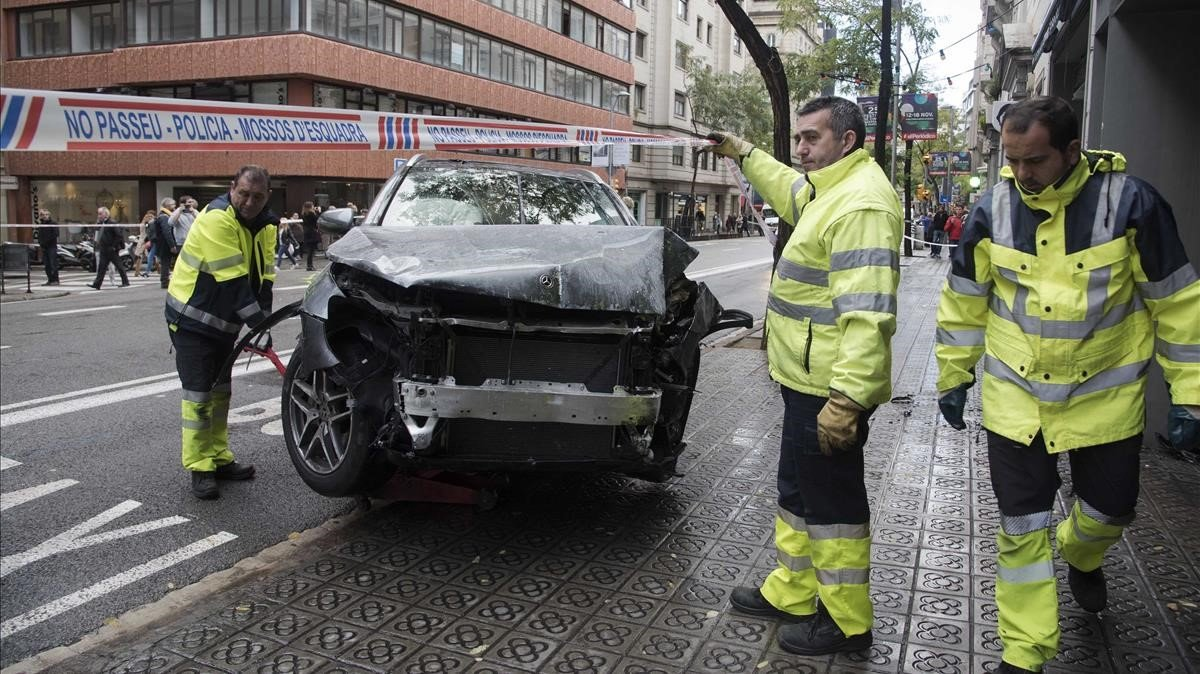 Els ferits greus i els accidents amb víctimes s'estanquen els últims quatre anys a Barcelona