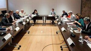 La reunión del consorcio en la que coincideron Torra y Colau, en septiembre pasado.