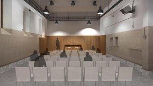 Reconstrucción virtual del futuro auditorio que empezará a construirse el mes de febrero y contará con un aforo para 100 personas.