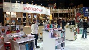 El puesto de Barcelona en la Feria Internacional del Libro de Buenos Aires.