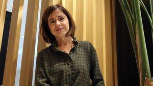 La escritora Marta Orriols, este lunes en un hotel de Barcelona.