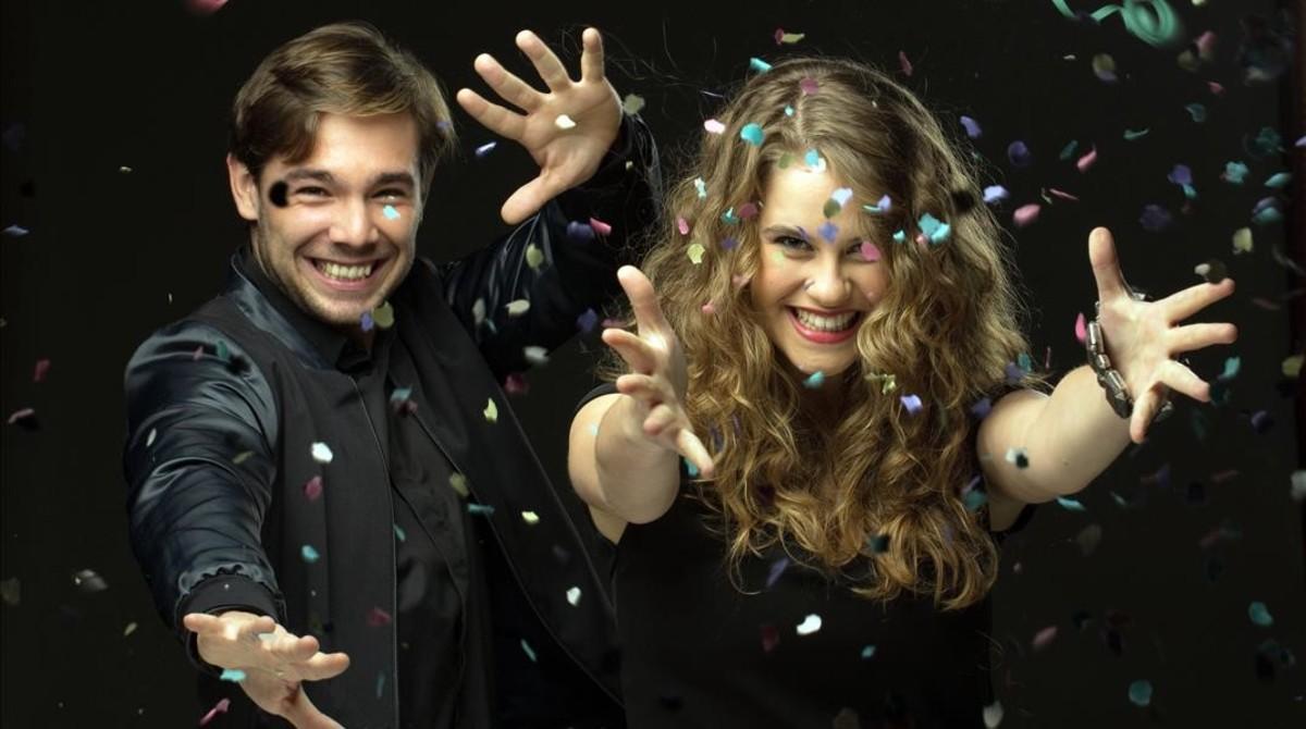 Carlos Cuevas y Elisabet Casanovas dan las campanadas en TV-3