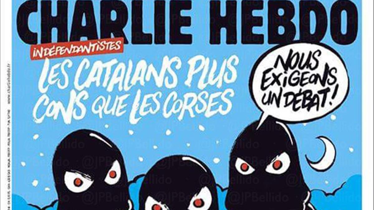 La portada de Charlie Hebdo dedicada al procés.