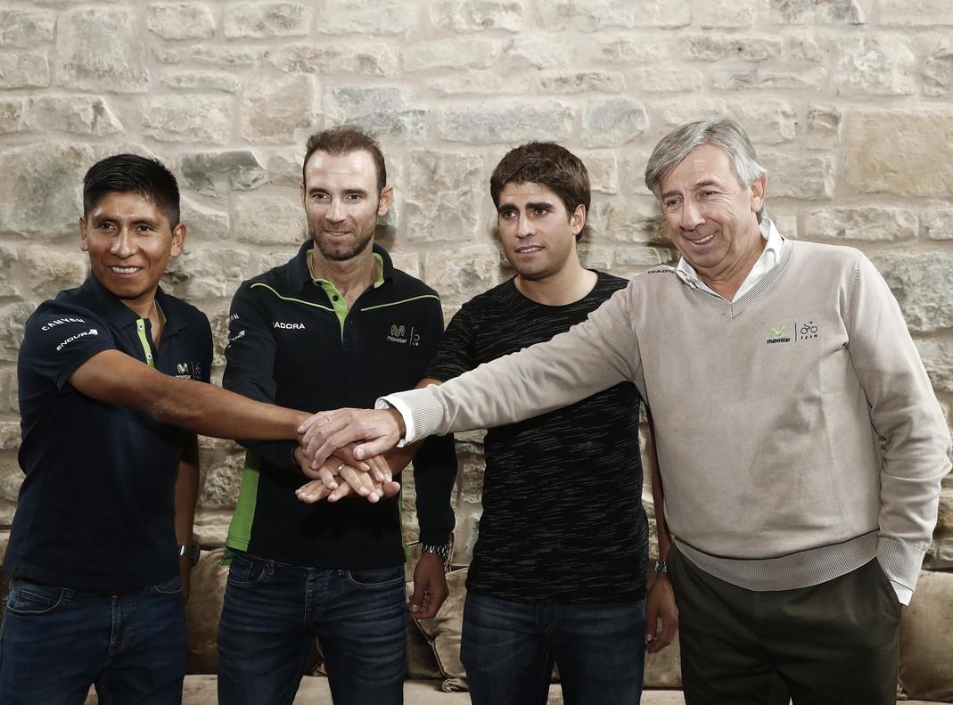Unzué destaca la suerte de contar con tres líderes, que podrían ir al Tour