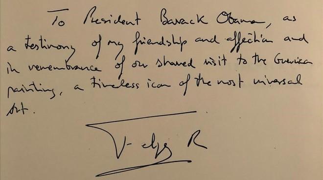 El Rey acompaña a Obama a ver el Guernica