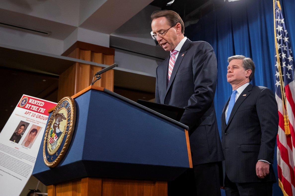 Estados Unidos ha anunciado acciones legales contra dos supuesto agentes de la inteligencia china por intentar hackear distintas empresas tecnologicasEFEErik SLesser
