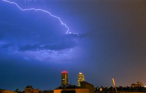 Tormenta eléctrica en Barcelona.