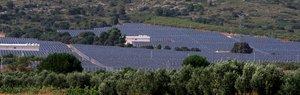 Parque fotovoltaico en Alicante.