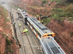Accidente de tren en Vacarisses.