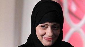La activista Samar Badawi, en el 2012, recibiendo el Premio Internacional a las Mujeres Valientes en Estados Unidos.