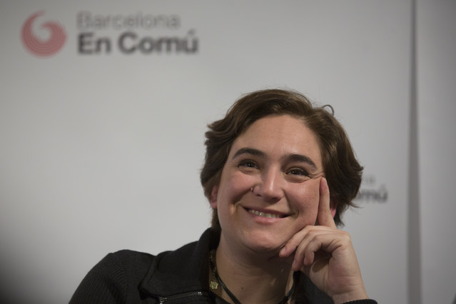 Ada Colau, el pasado 10 de febrero.