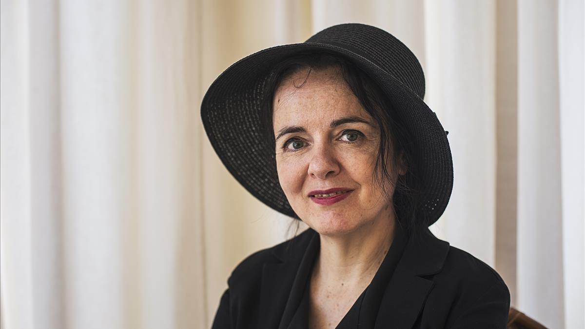 Amélie Nothomb, en su última visita a Barcelona.