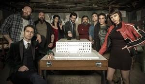 AMPLIO REPARTO. Algunos de los actores de La casa de papel, en una imagen promocional.
