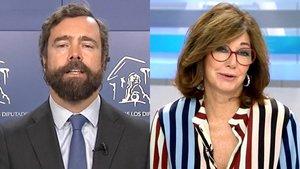 """Ana Rosa afea al portavoz de Vox su veto a la prensa: """"Deberían repensarlo, no es bonito"""""""