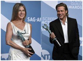 Aniston y Pitt, premiados en los SAG, fueron los protagonistas de la gala del Sindicato de Actores, en Los Ángeles.